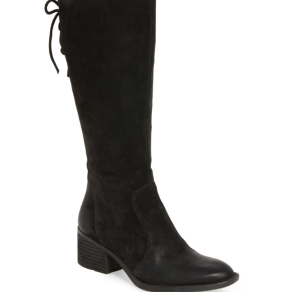 23a85f4b450b Born Shoes - Born Felicia Black Distressed Suede Boots